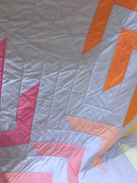 Dayglow Quilt Pattern by Monika Henry of Penny Spool Quilts, in Love Patchwork & Quilting issue 86