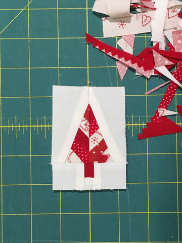 Festive Forest by Penny Spool Quilts - Christmas Tree Ornament Tutorial - finished mini block