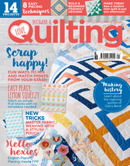 Love Patchwork & Quilting issue 101 featuring Line Dance by Monika Henry on the cover