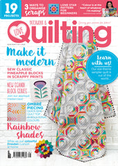 Love Patchwork & Quilting issue 86 - Dayglow quilt pattern by Monika Henry