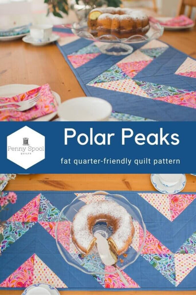 Polar Peaks Table Runner Pattern by Penny Spool Quilts