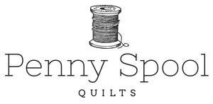 penny spool quilts logo black spool above logo text