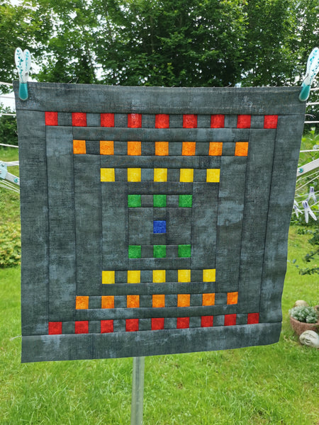 Staccato Quilt Pattern by Penny Spool Quilts - Tester Quilt by Kirsten Pfaff