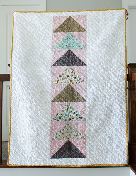 Flocks of Colour Quilt Pattern by Penny Spool Quilts, Modern Flying Geese Quilt, Beginner Friendly