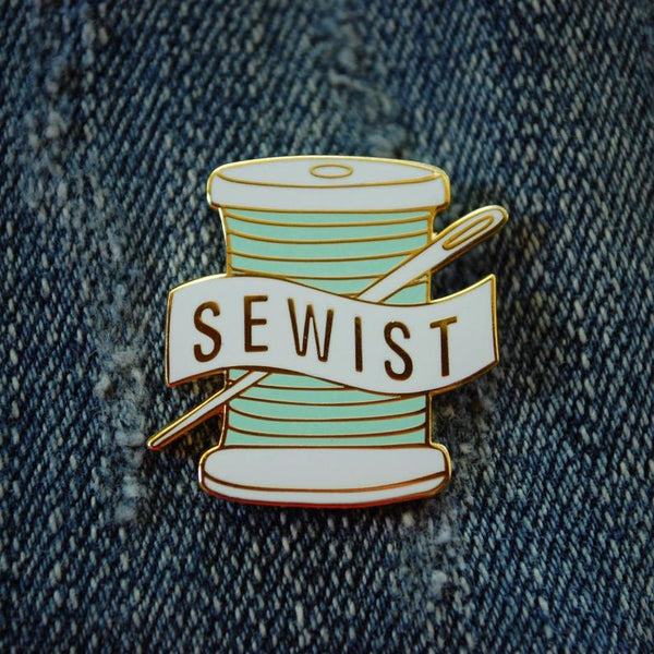 sewist enamel pin, Quilty Gift Guide by Penny Spool Quilts