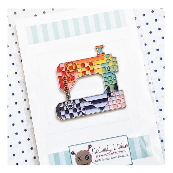 patchwork sewing machine enamel pin, Quilty Gift Guide by Penny Spool Quilts