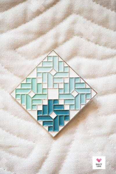 ombre gems quilt pattern enamel pin, Quilty Gift Guide by Penny Spool Quilts