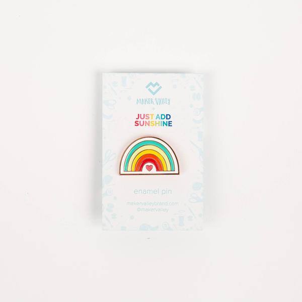 rainbow enamel pin, Quilty Gift Guide by Penny Spool Quilts
