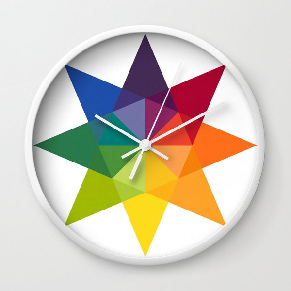 Rainbow Star wall clock, Quilty Gift Guide by Penny Spool Quilts