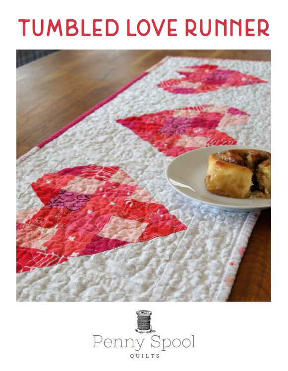 Tumbled Love Table Runner Pattern - PDF
