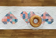 Load image into Gallery viewer, Tumbled Love Table Runner Pattern - PDF