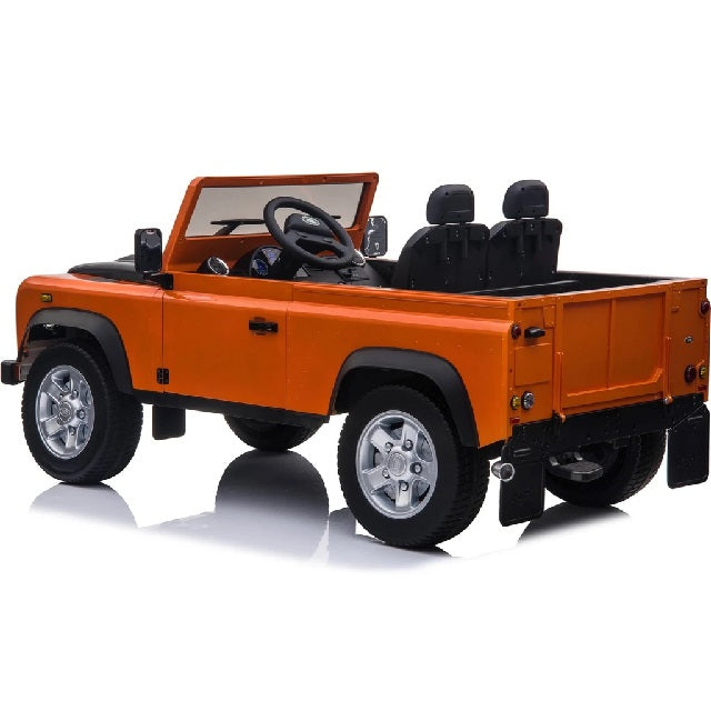 Range Rover Defender Safari Orange Voiture Électrique Enfant 12V 2 place