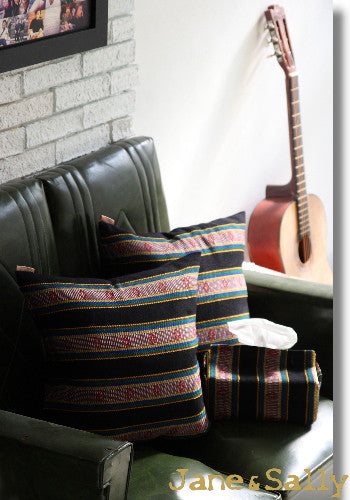 (Jane&Sally)Native Series The Amis Tribe Pillow Cover(Black)