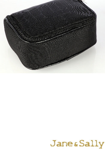 (Jane&Sally)Traveller Series Leather Joint Storage Bag(Black Crocodile)
