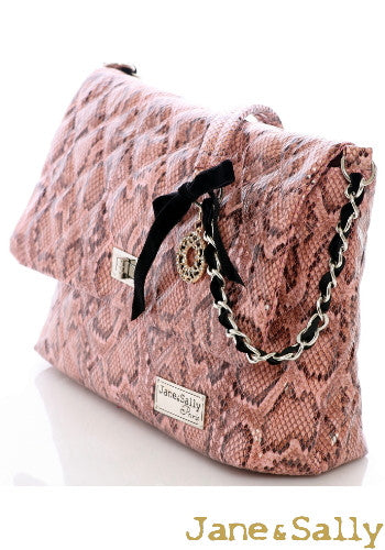 (Jane&Sally)Enchanted Python Series Diamond Strap Shoulder Bag(Large)