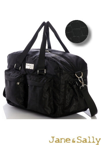 (Jane&Sally)Traveller Series Travel Bag(Black Crocodile)