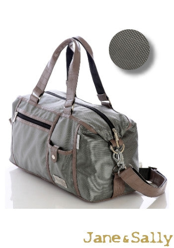 (Jane&Sally)Traveller Series Handy Style Travel Bag(Moss Crocodile)