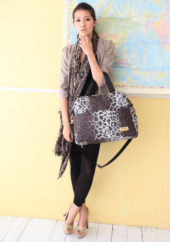(Jane&Sally)Lightly Portable Bowling Travel Bag(Leopard Print)
