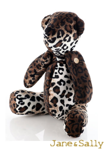 (JaneSally)Bear Modeling Polyester Fluff Fabric Two Way Three-Dimensional Pillow(Including Blanket)-Leopard