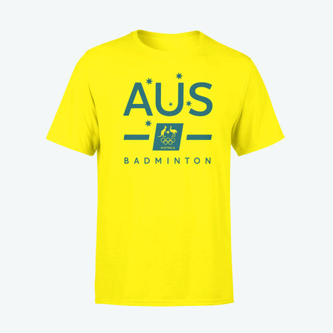 AOC Badminton Adults Gold Supporter Tee