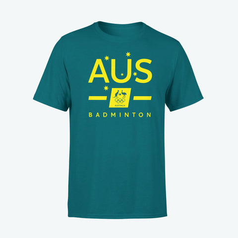 AOC Badminton Adults Green Supporter Tee