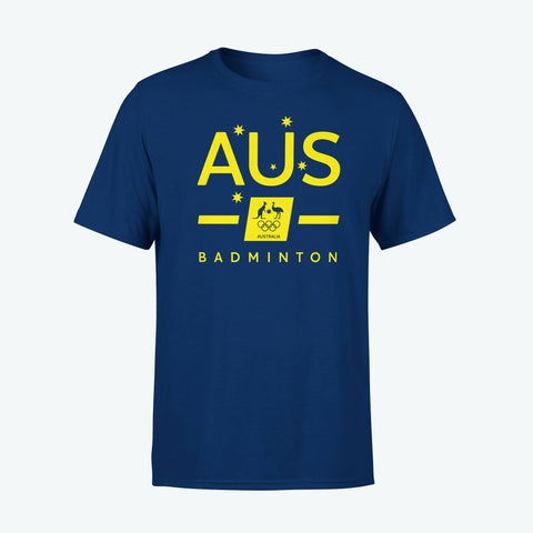 AOC Badminton Adults Navy Supporter Tee