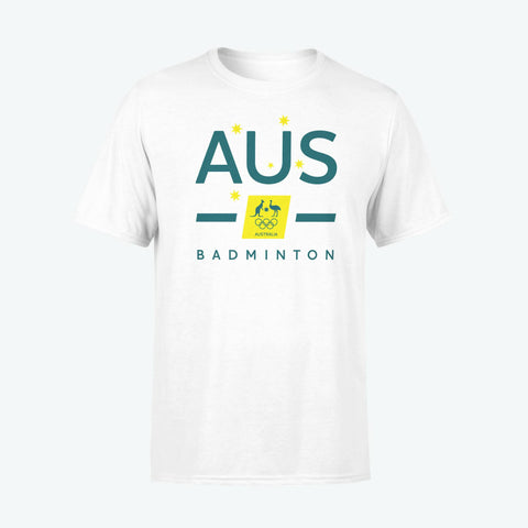 AOC Badminton Adults White Supporter Tee