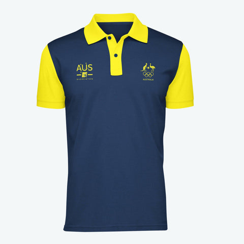 AOC Badminton Adults Navy Supporter Polo