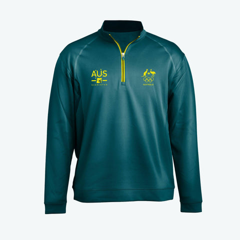 AOC Badminton Adults Green Elite Supporter Top