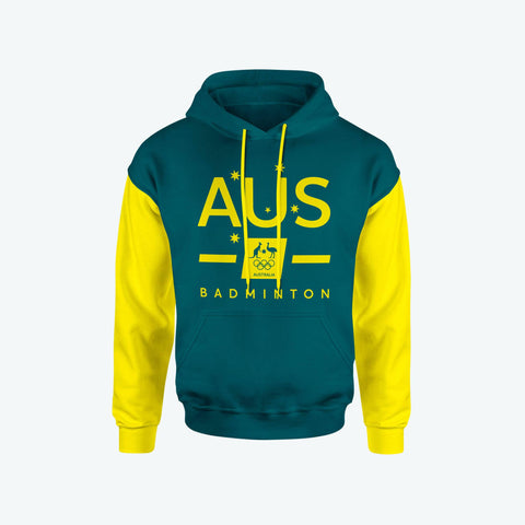 AOC Badminton Adults Green Supporter Hoodie