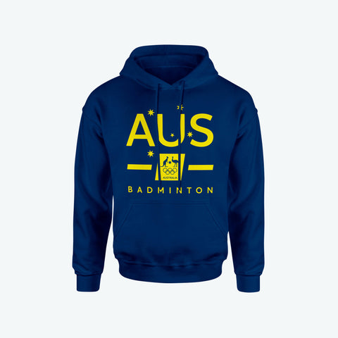 AOC Badminton Adults Navy Supporter Hoodie