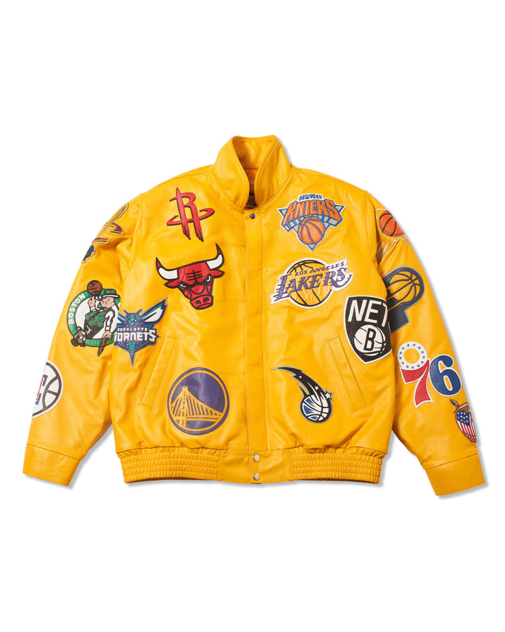 NBA COLLAGE GENUINE LEATHER JACKET (Pre-Sale)