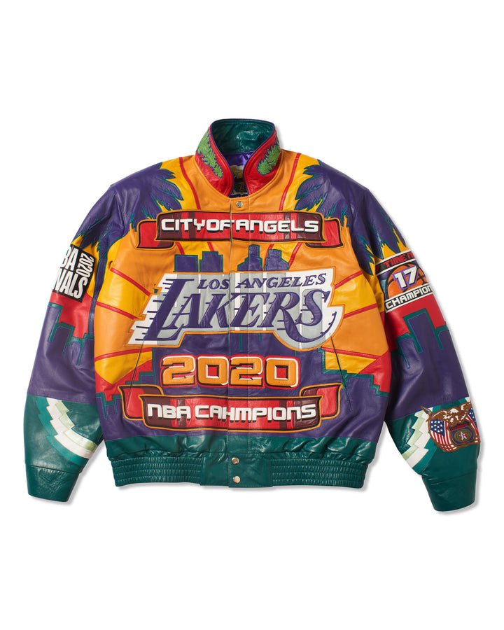 Los Angeles Lakers 2020 Championship Genuine Leather Jacket