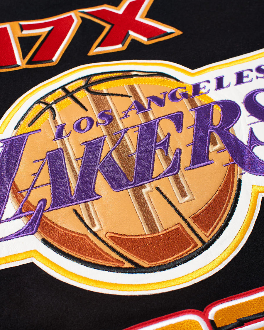 Los Angeles Lakers 2020 Championship Wool & Leather Jacket
