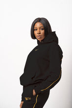 Load image into Gallery viewer, Coal Black Lounge Hooded Sweatshirt