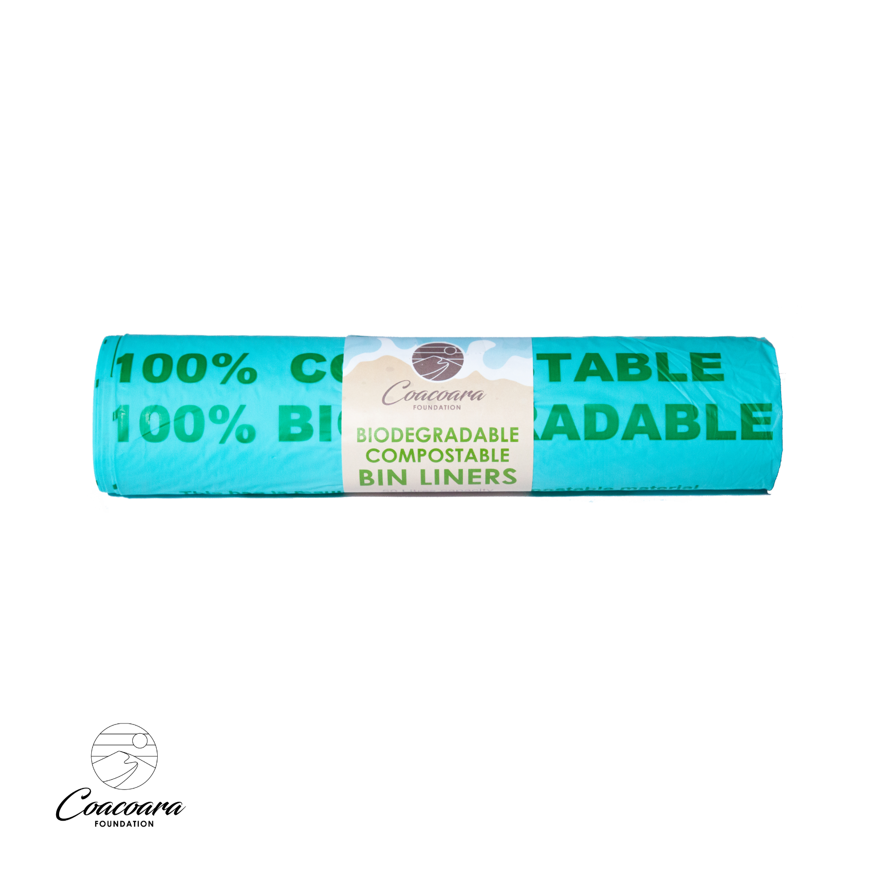 Bin Liners, corn starch, affordable, equilibrium, sustainable. compostable bin liners biodegradable compostable made in UK sustainable bin bags Coacoara
