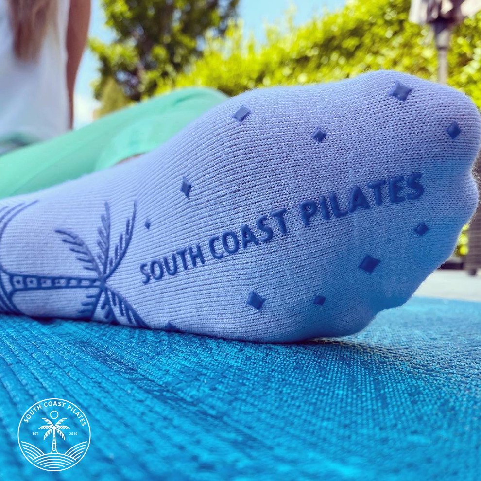 Blue Palm - Grippy Socks from South Coast Pilates