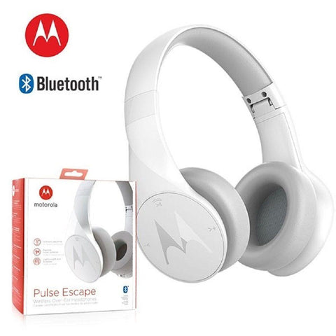 Motorola Pulse Escape over the ear  Bluetooth Headphone (White Colour)