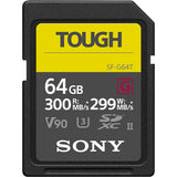 Sony tough 64 GB SD Card SF-E64/T1 with read upto 300 mbps write up to 299 mbps