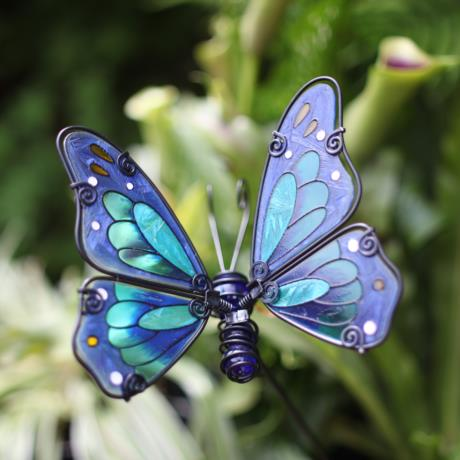 Taiga Butterfly Glass Stake available at garden gifts