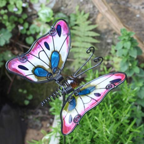 Marsh Butterfly Glass Stake available at garden gifts
