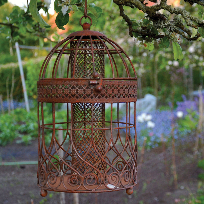 Rustic Caged Bird Feeder