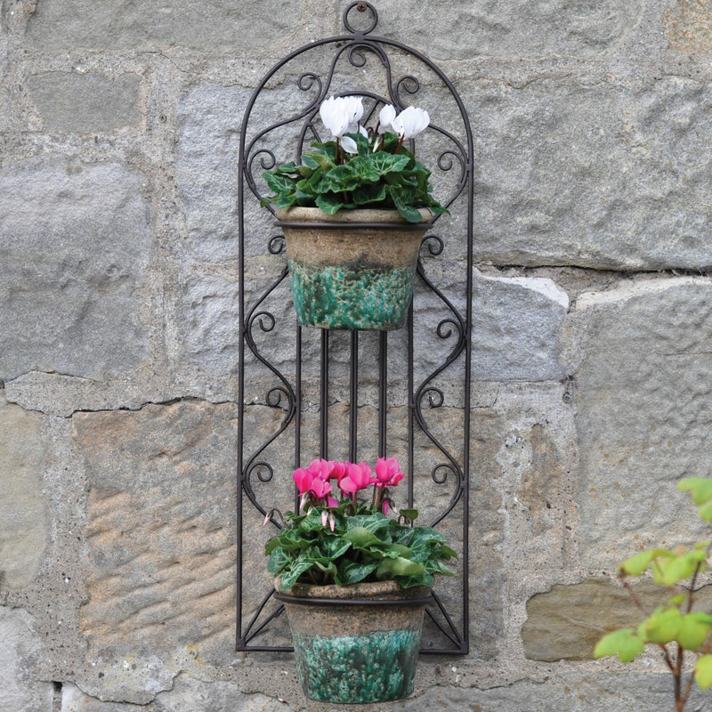 Gothic Wall Planter For Two Pots