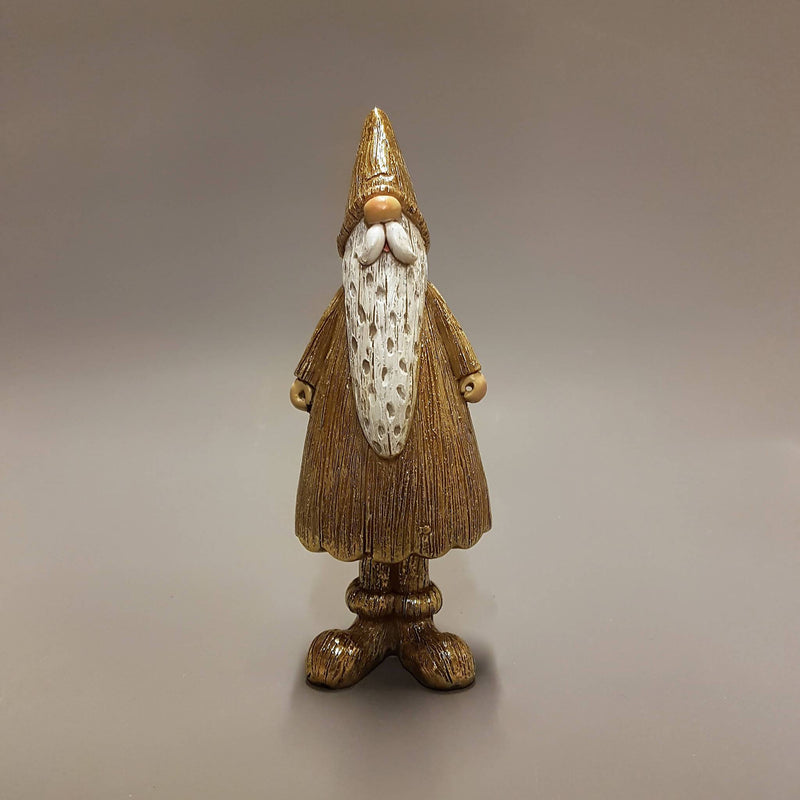 Gold Santa Ornament