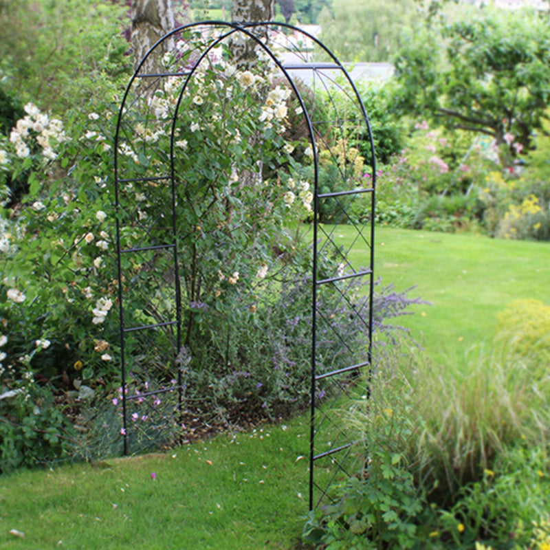 220cm Scroll Arch available at garden gifts