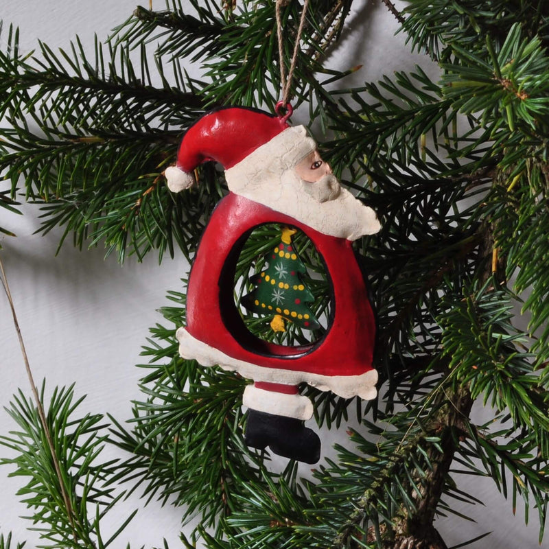 hanging santa christmas tree decoration