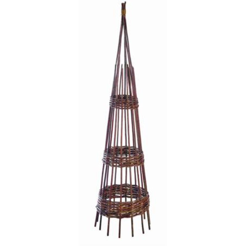 Obelisk Hoop Willow 120cm available at garden gifts