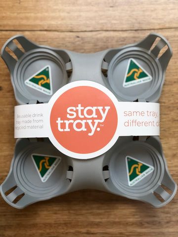 Stay tray Silver Fox Reusable Drinks Tray Made In Australia
