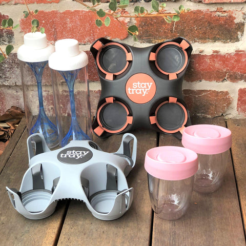 Stay tray Reusable Drinks Tray Starter Kit