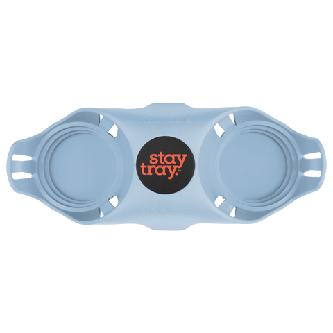 Classic Stay tray 2 Cup Reusable Drinks Tray Blue with Black and Fluro Centre